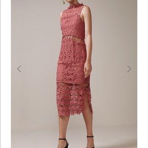Keepsake stay close lace midi dress